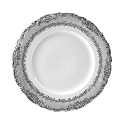 "Ten Strawberry Street Vanessa Platinum 10.5"" Dinner Plate"