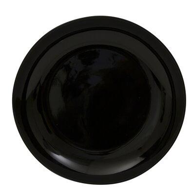 "Ten Strawberry Street Black Coupe 12"" Buffet Plate"