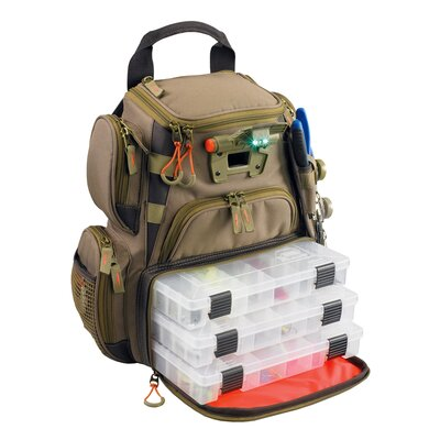Recon Lighted Compact Tackle Backpack with Tray by Wild River