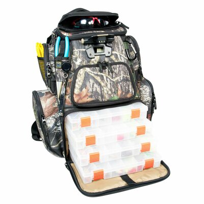 Nomad Mossy Oak Tackle Tek Lighted Backpack with Tray by Wild River