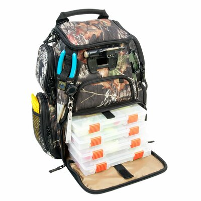 Recon Mossy Oak Compact Lighted Backpack with Tray by Wild River