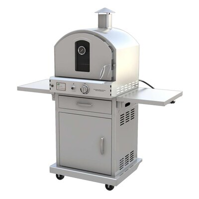 """Pacific Living 22.8"""" Outdoor Pizza Oven Gas Grill with Cart"""