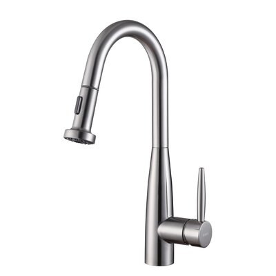 Turino Single Handle Kitchen Faucet with Pull Out Spray Product Photo