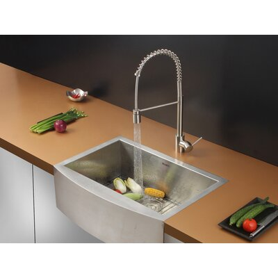 """Ruvati 30"""" x 21"""" Kitchen Sink with Faucet"""