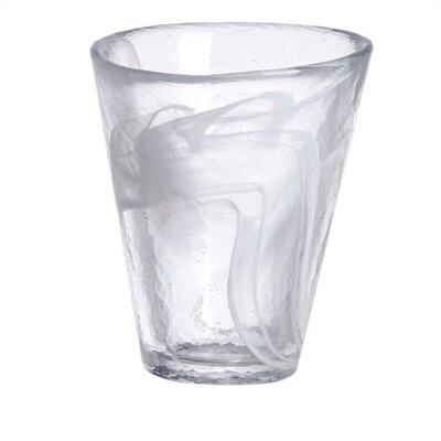 Mine White Tumbler Glass by Kosta Boda