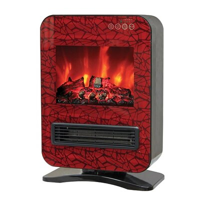 Portable Electric Fireplace with Remote Control by WBM LLC