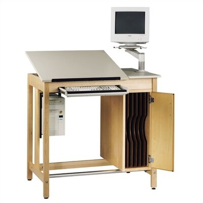 "Shain Drawing Board Storage 42""W x 30""D Computer Table"
