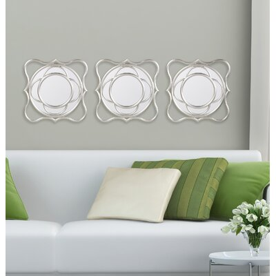 Silver Wave Wall Mirrors by Bombay