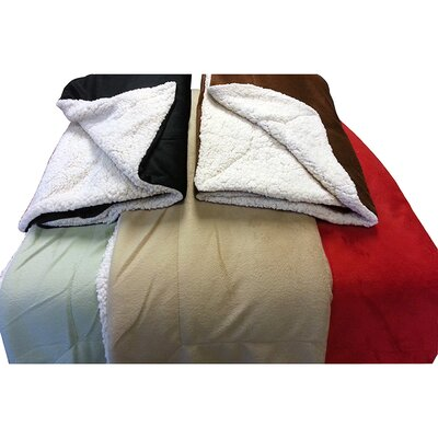 LCM Home Fashions Micromink / Sherpa Throw