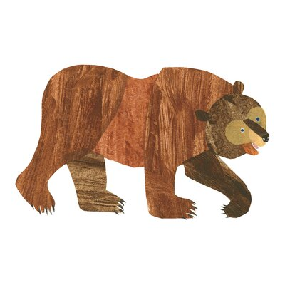 Brown Bear Character Bear Painting Print On Wrapped Canvas