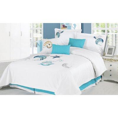Panama Jack Home Ocean Shells 7 Piece Comforter Set