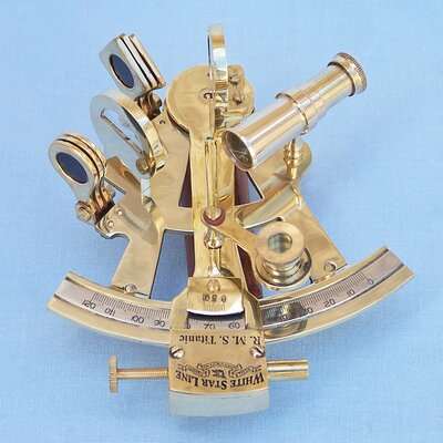 Titanic Star Lines Sextant Sculpture by Handcrafted Nautical Decor