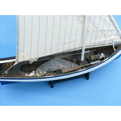 Handcrafted Nautical Decor Summer Wind Fishing Model Boat