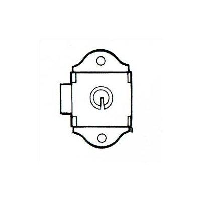 Penco Built-in Key Locks with 2 Flat Keys - Dead Bolt, Keyed Differently