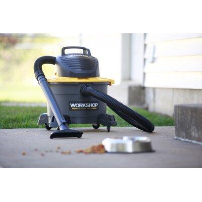 WORKSHOP Wet/Dry Vacs 5 Gallon 2.5 Peak HP Wet / Dry Vacuum