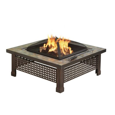 Pleasant Hearth Bradford Outdoor Natural Slate Fire Pit