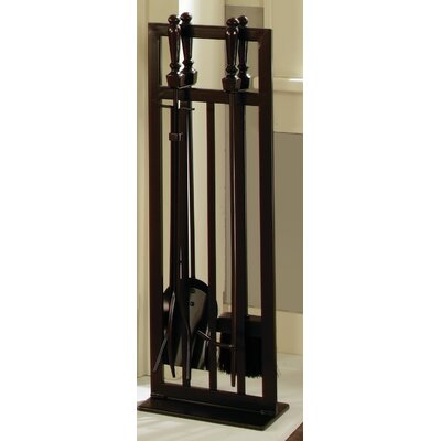 Pleasant Hearth 5 Piece Fire-Retardant Mission Style Fireplace Tool Set