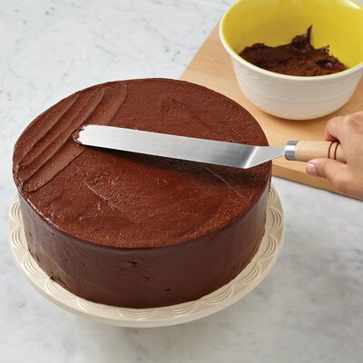 Cake Boss Icing Reviews : Cake Boss Wooden Tools and Gadgets Stainless Steel Offset ...