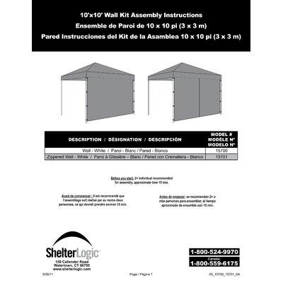 ShelterLogic Alumi Max Wall 10 Ft. W Canopy Kit