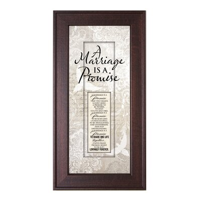 Marriage Promise Framed Graphic Art by The James Lawrence Company