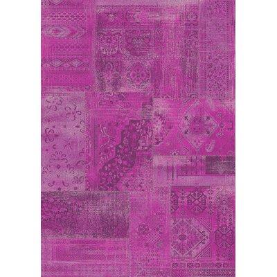 Antika Pink Brilliant Patchwork Area Rug by Kalora