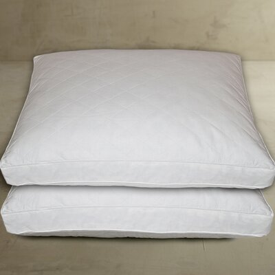 Cotton Quilted Feather Jumbo Pillow by Blue Ridge Home Fashion