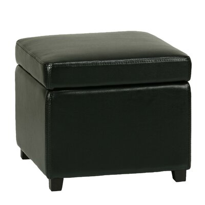 Massimo Storage Cube Ottoman with Hinged Top by Cortesi Home