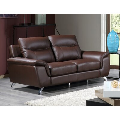 Chicago Leather Loveseat by Cortesi Home
