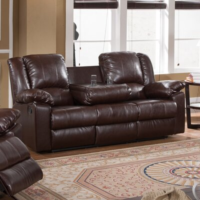 Burgas Reclining Sofa with Drop-Down Cup Holder by Milton Green Star