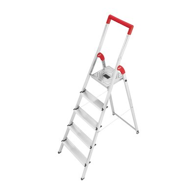 Hailo USA Inc. L50 5.51 ft Aluminum Step Ladder with 330 lb. Load Capacity