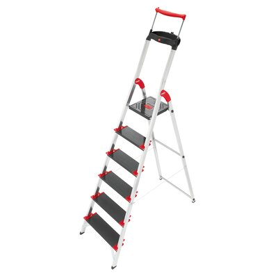 Hailo USA Inc. Championsline 6.23 ft Aluminum Step Ladder with 495 lb. Load Capacity