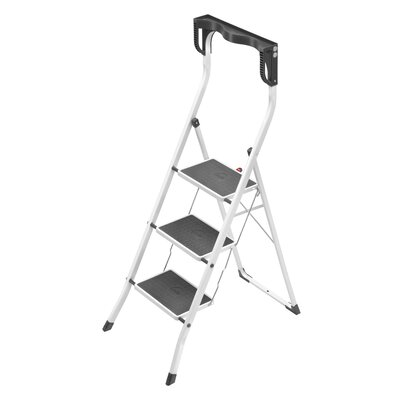 Hailo USA Inc. Safety Plus 3-Step Steel Step Stool with 330 lb. Load Capacity
