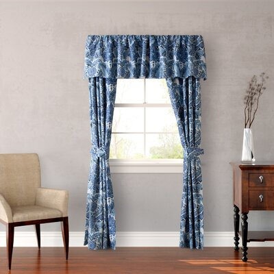 Porcelain Paradise 4 Piece Window Panel Tie-Up Shade Product Photo
