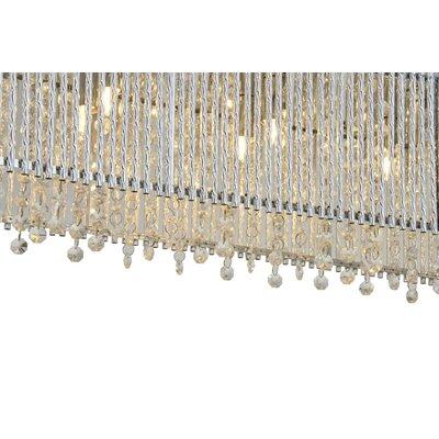 Bromi Design Crystalline 6 Light Crystals Chandelier