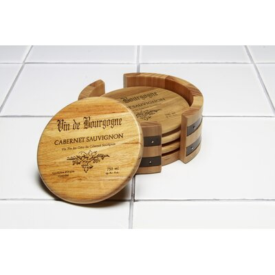 5 Piece Wine Cask Coaster Set by Thirstystone