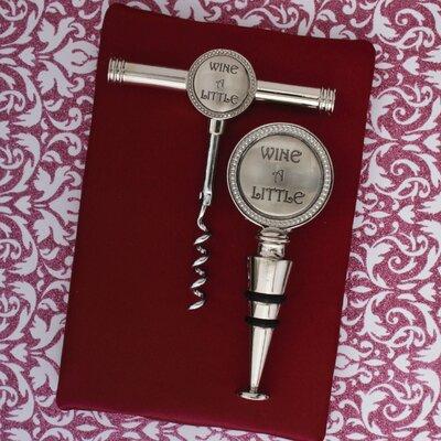 Thirstystone 2 Piece Wine a Little Cork Screw Stopper Set