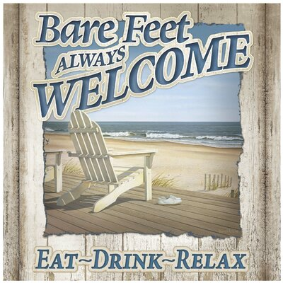 Bare Feet Always Welcome Occasions Trivet by Thirstystone