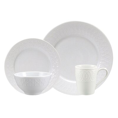 Blanc Fleur 4 Piece Place Setting by Nikko Ceramics