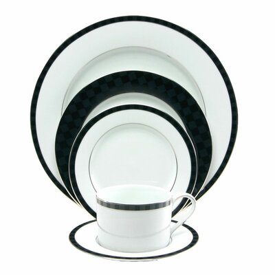 Black Tie 5 Piece Place Setting by Nikko Ceramics