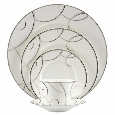 Elegant Swirl 5 Piece Place Setting by Nikko Ceramics