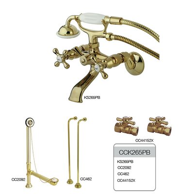 Vintage/Aqua Eden Wall Mount Clawfoot Tub Faucet Package Product Photo
