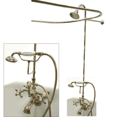 Vintage Double Handle Wall Mount Clawfoot Tub Package Product Photo