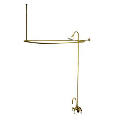 Vintage Triple Handle Wall Mount Gooseneck Clawfoot Tub Faucet Package Product Photo