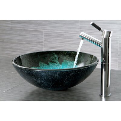 Fauceture Turquoise Space Glass Round Bathroom Sink Product Photo