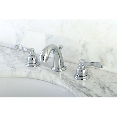 NuWave French Double Handle Mini Widespread Bathroom Sink Faucet with ABS Pop-Up Drain Product Photo