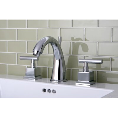 Kingston Brass Claremont Double Handle Widespread Bathroom Faucet with Brass Pop-Up Drain