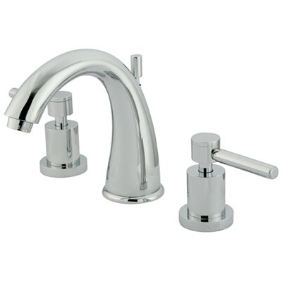 Concord Double Handle Widespread Bathroom Faucet with Brass Pop-Up Drain Product Photo