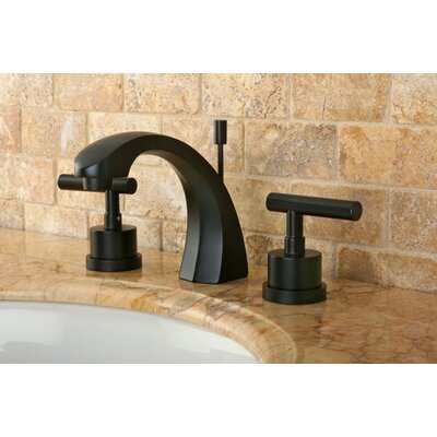 Manhattan Double Handle Widespread Bathroom Faucet with Brass Pop-up Product Photo