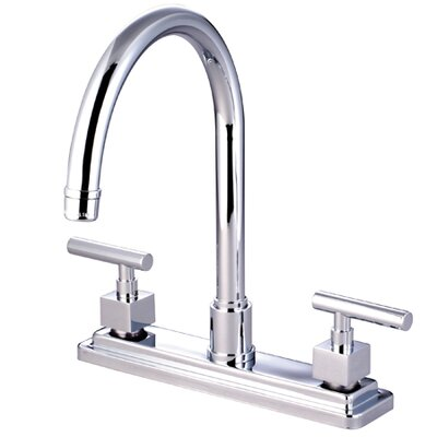 Claremont Double Handle Kitchen Faucet with Non-Metallic Sprayer Product Photo