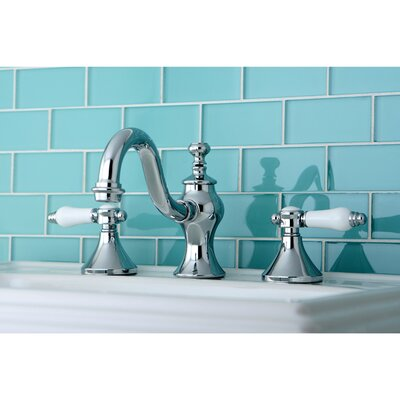 Vintage Double Handle Widespread Bathroom Faucet with Pop-Up Drain Product Photo